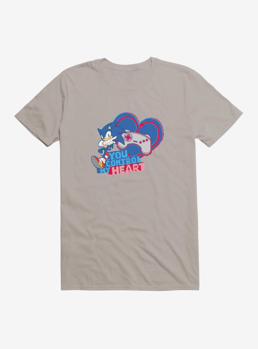 Sonic The Hedgehog Valentine Gaming Control T-Shirt