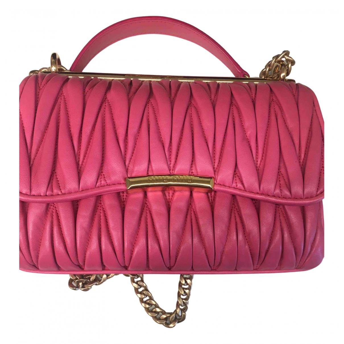 Miu Miu Matelass� Pink Leather handbag for Women \N