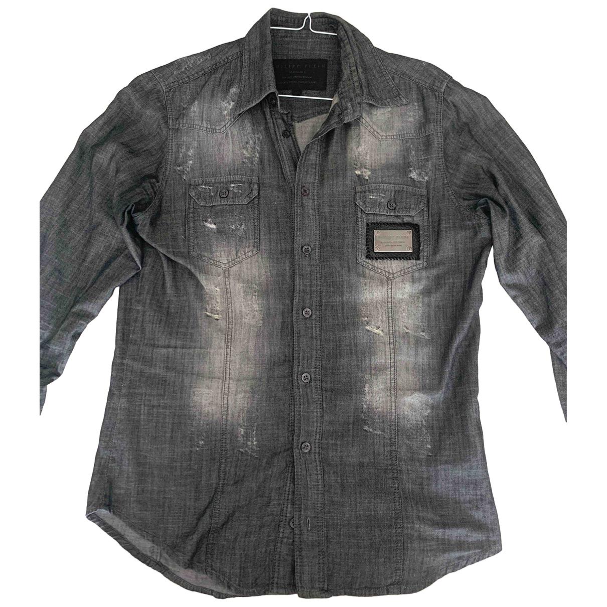 Philipp Plein - Chemises   pour homme en coton - gris