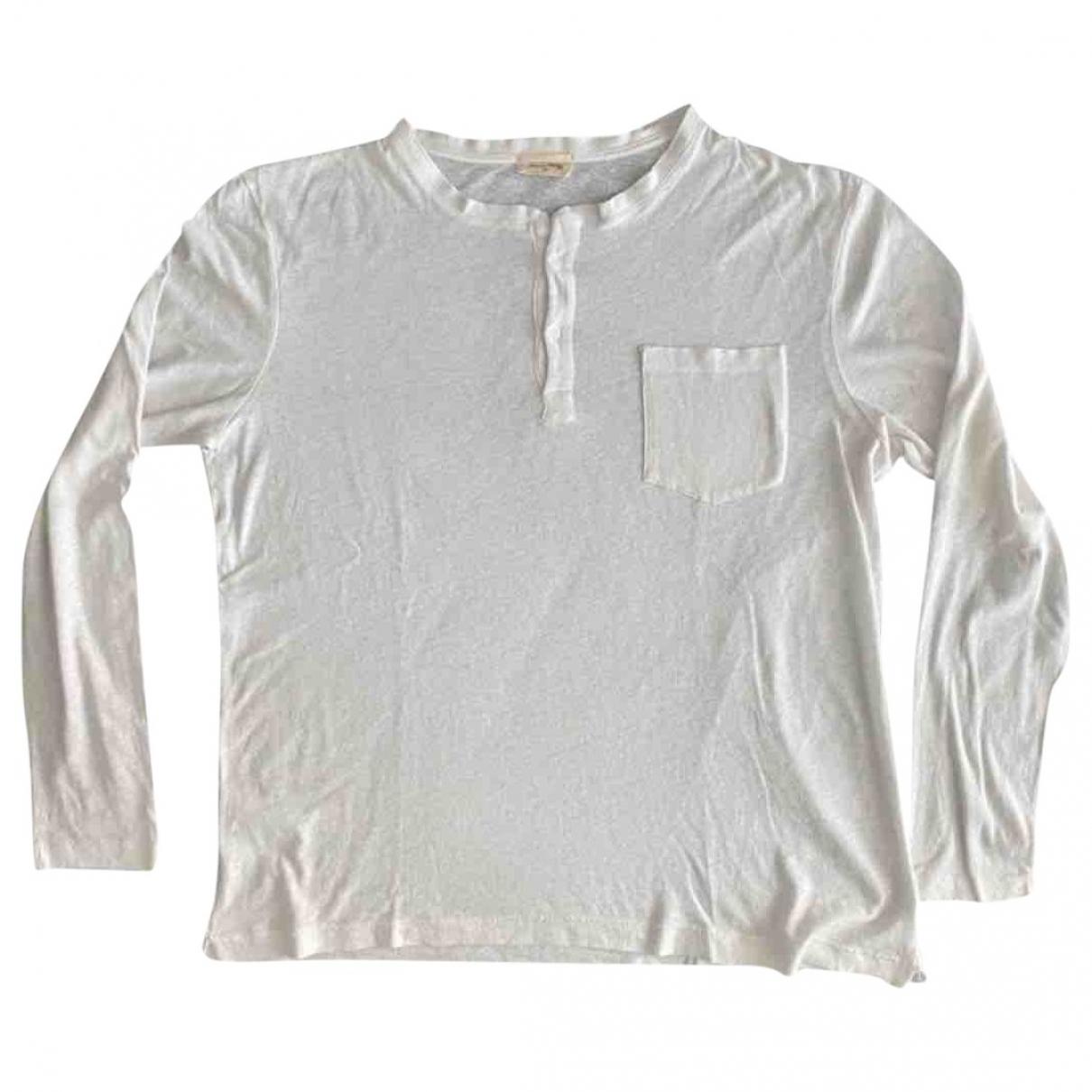 American Vintage - Tee shirts   pour homme en coton - blanc