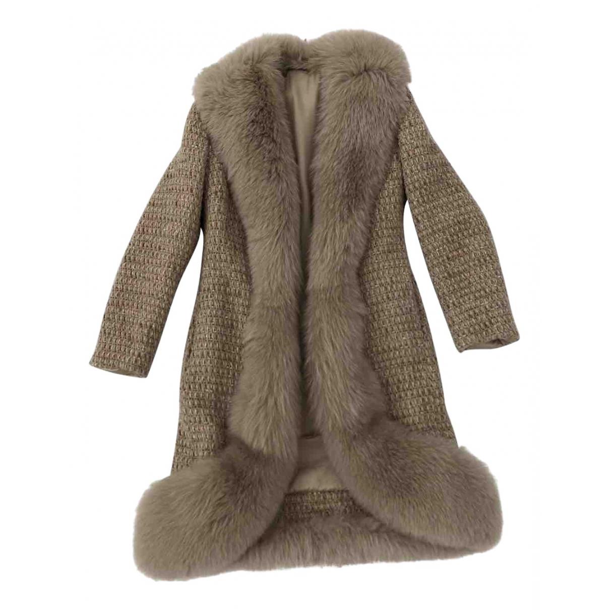 Blumarine - Veste   pour femme en renard - beige