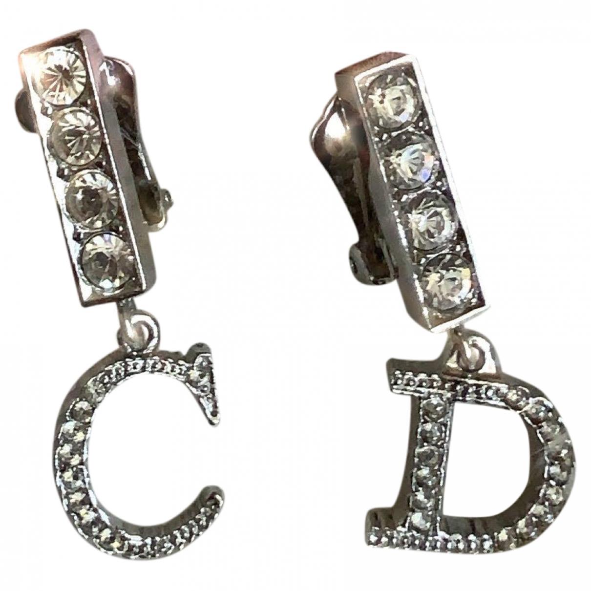 Dior Dior Oblique Silver Metal Earrings for Women \N