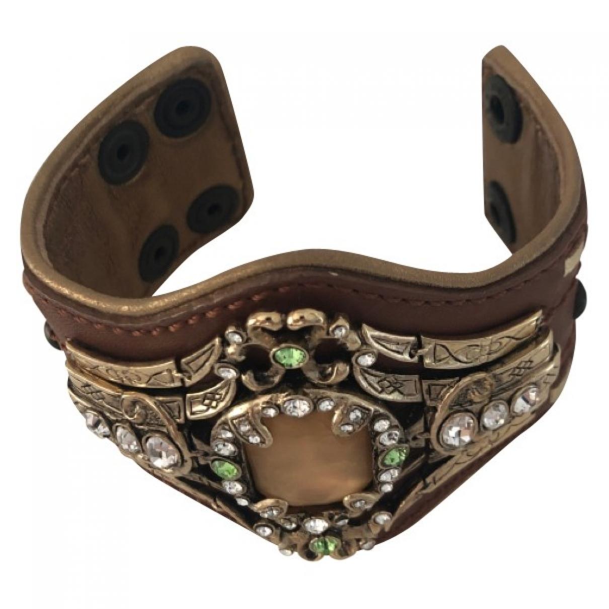 Giuseppe Zanotti - Bracelet   pour femme en cuir - marron