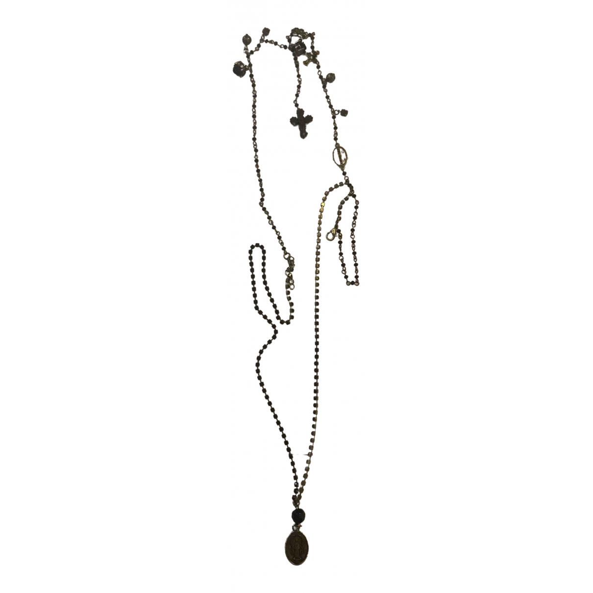 Twin Set \N Halskette in  Schwarz Stahl