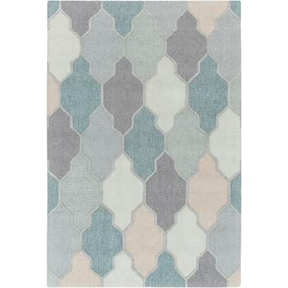 AWAH2036-811 8' x 11' Rug  in Medium Gray and Charcoal and Sage and Teal and Sea Foam and