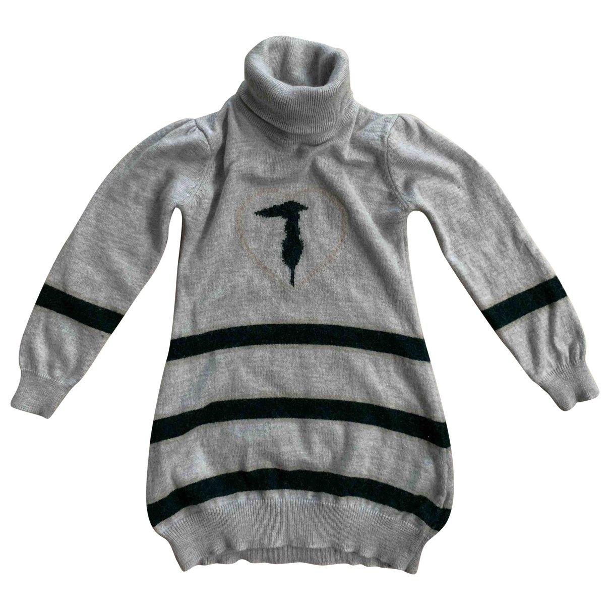 Trussardi - Robe    pour enfant en cachemire - gris