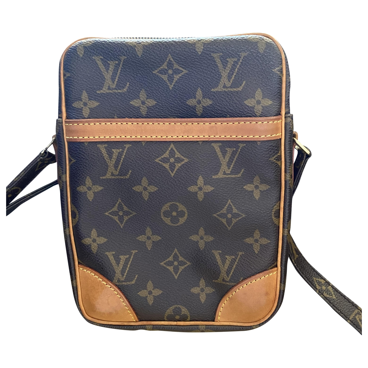 Louis Vuitton Danube Handtasche in  Braun Leinen