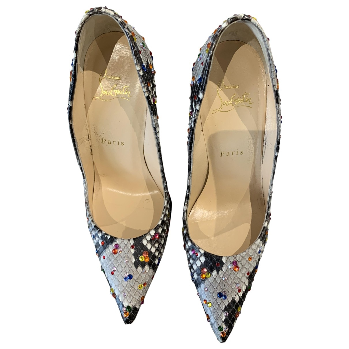 Christian Louboutin Pigalle Pumps in  Bunt Python