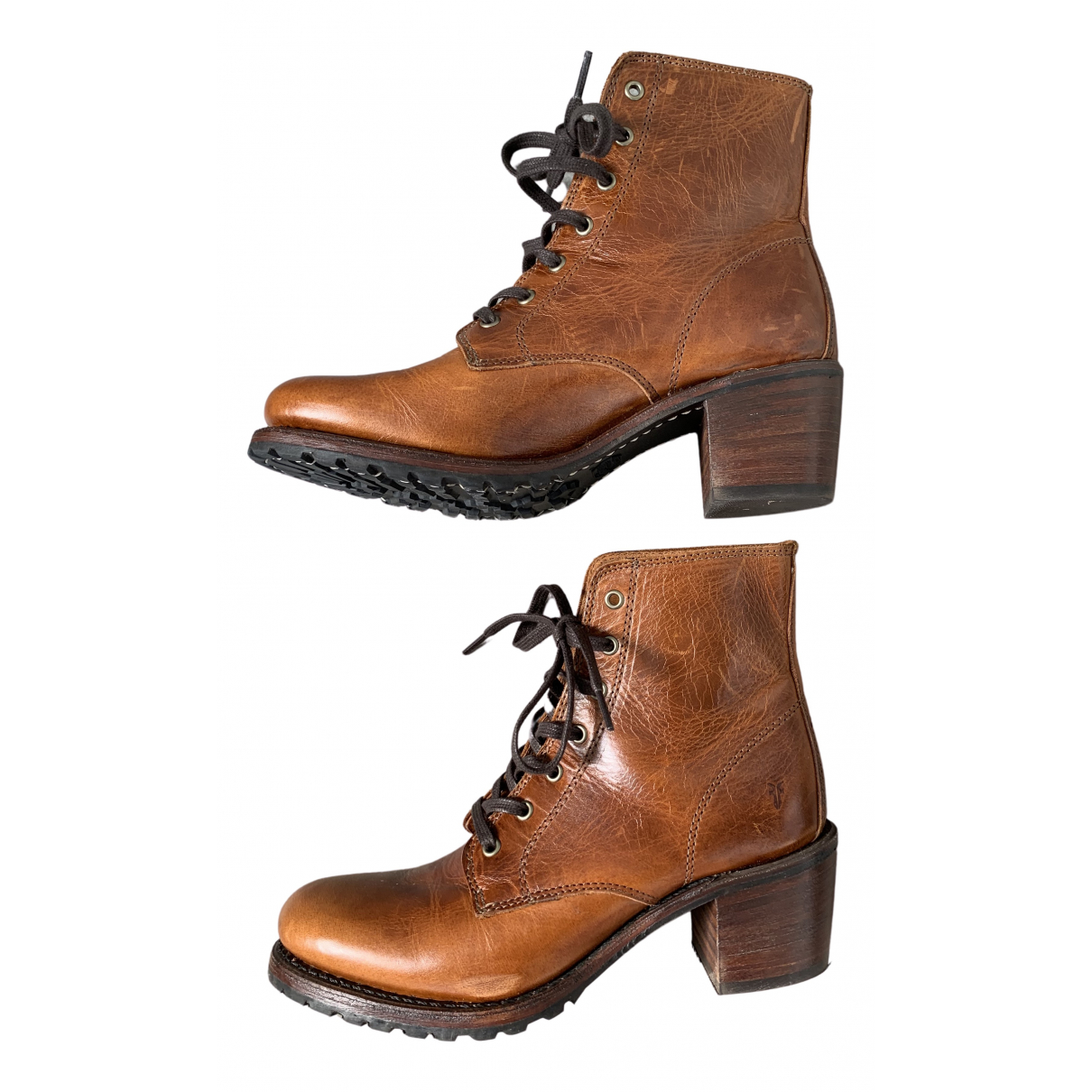 Frye N Brown Leather Boots for Women 9 US