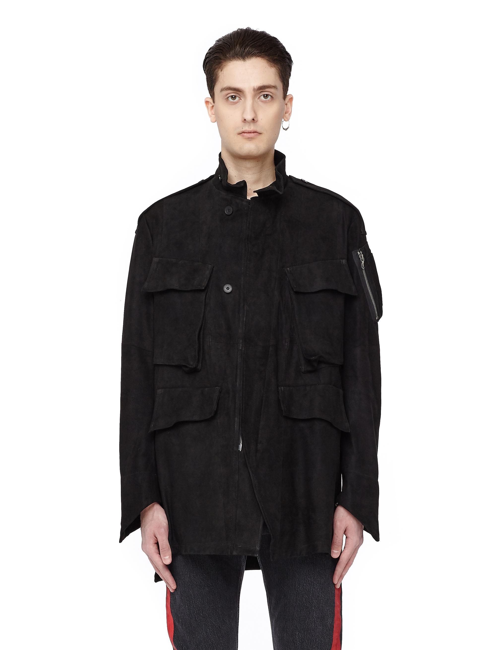 Julius Zipped Suede Jacket