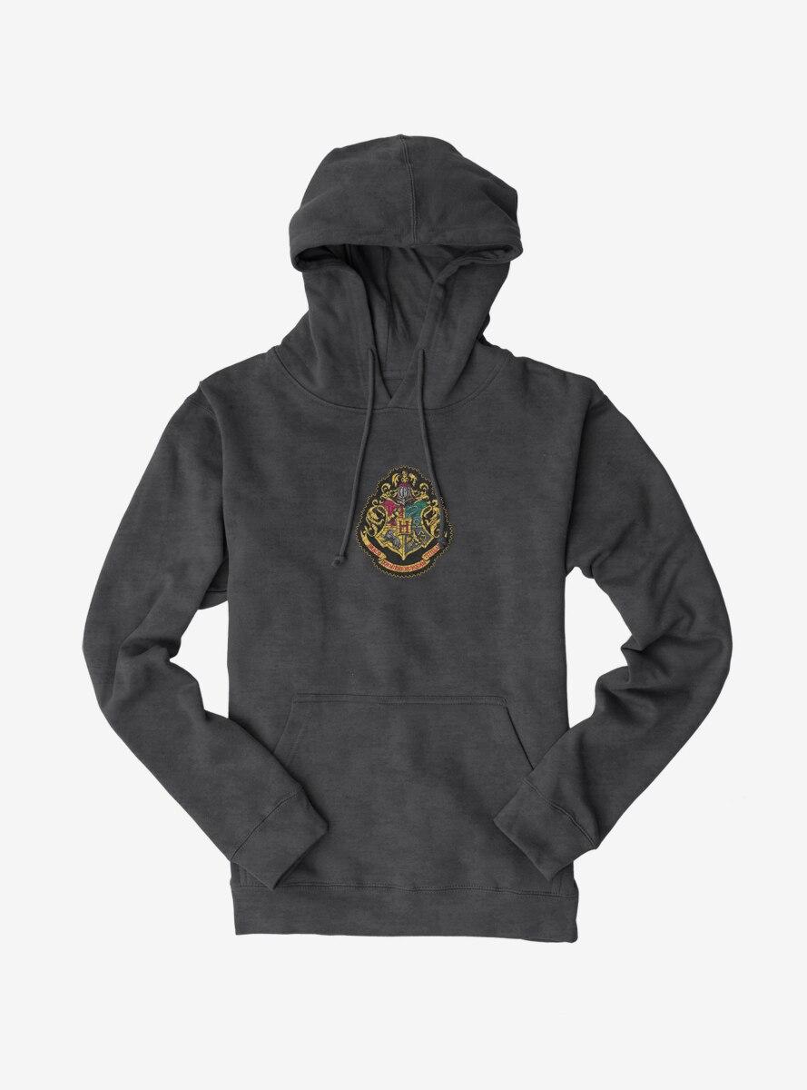 Harry Potter Color Hogwarts Shield Hoodie