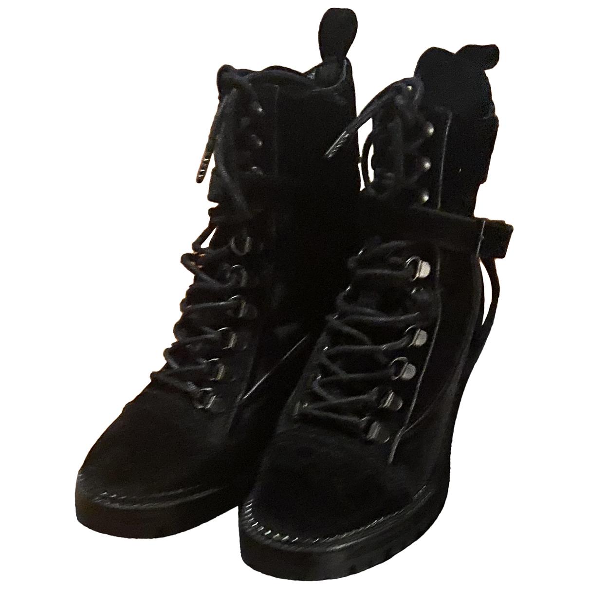 The Kooples N Black Velvet Ankle boots for Women 38 EU