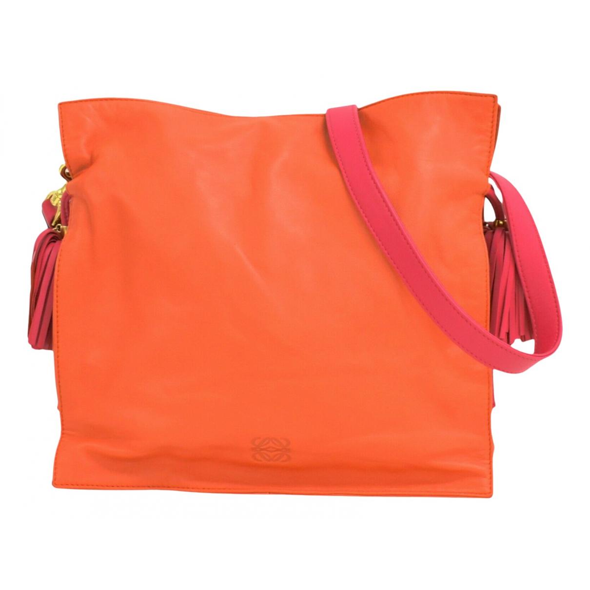 Loewe N Orange Leather handbag for Women N
