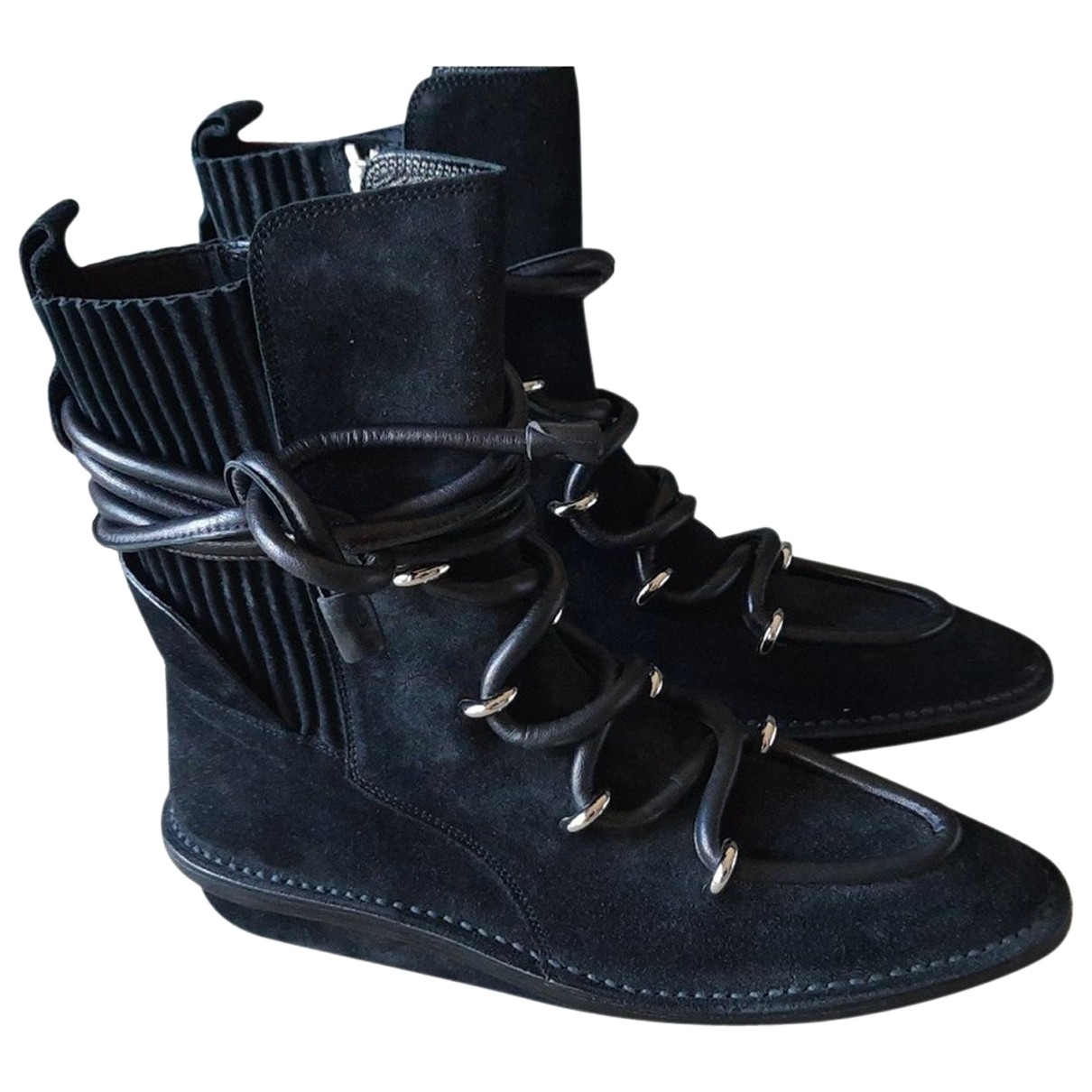 Balenciaga N Black Suede Ankle boots for Women 37 EU