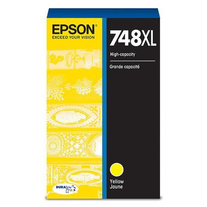Epson 748XL T748XL420 Original Yellow Ink Cartridge High Yield