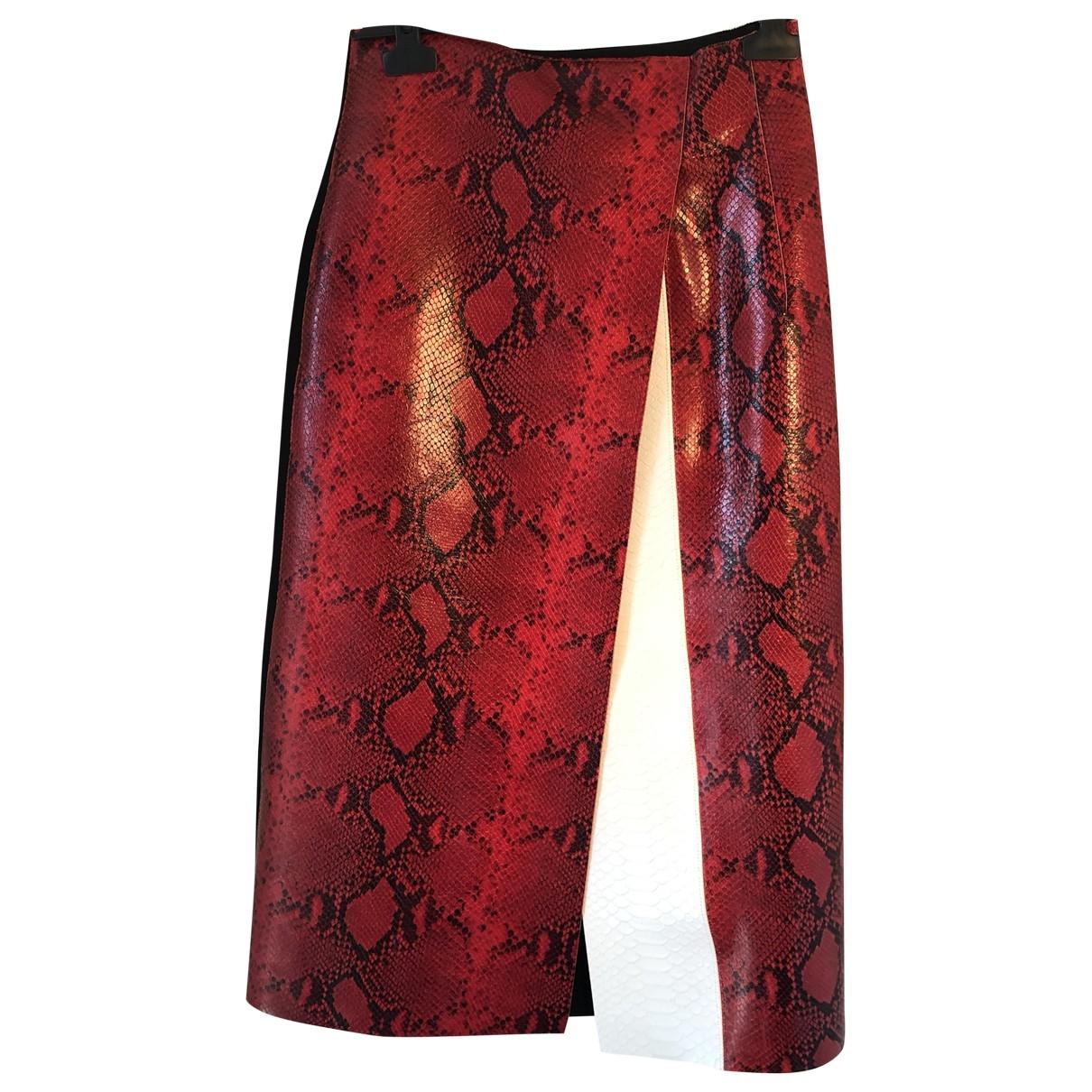 Sport Max - Jupe   pour femme en cuir - rouge