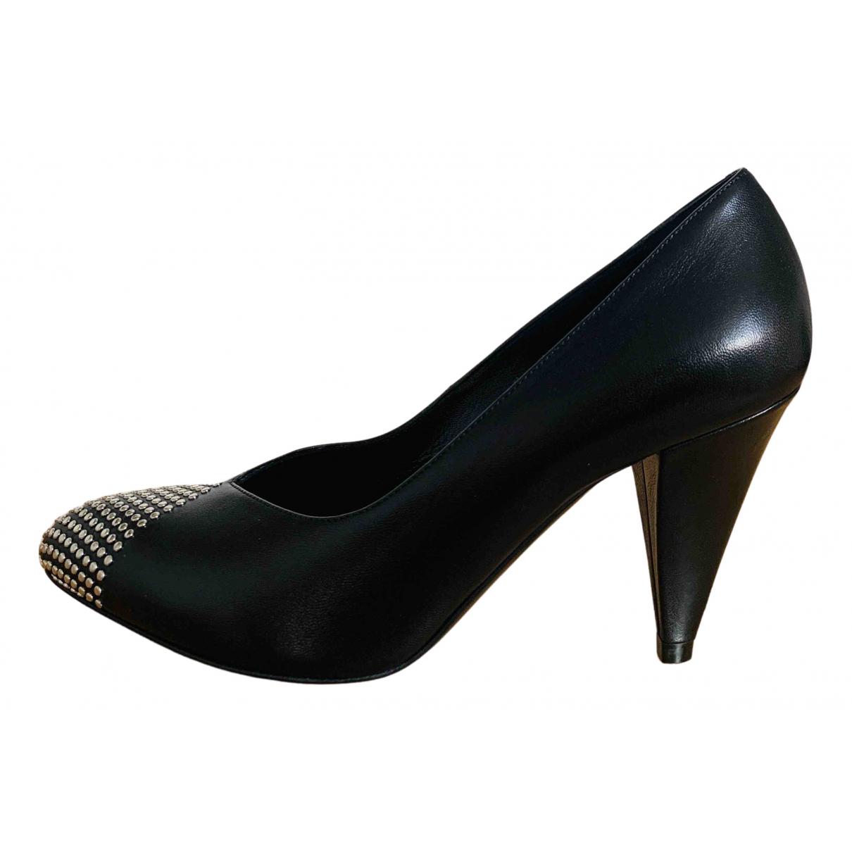 Celine - Escarpins Triangle Heel pour femme en cuir - noir