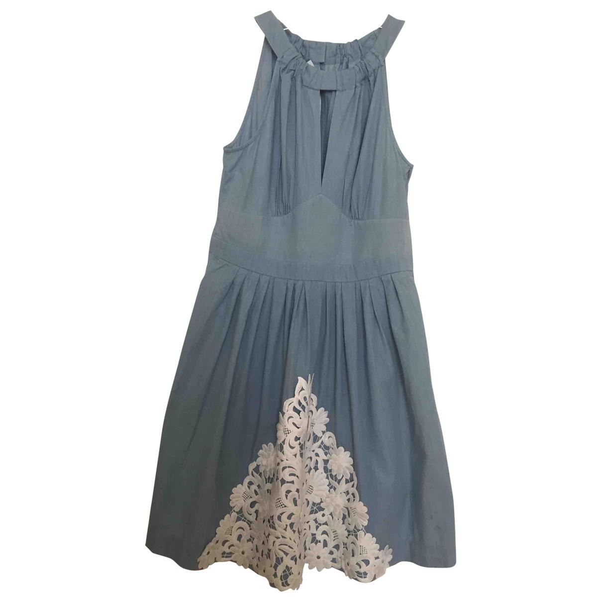 Moschino Cheap And Chic \N Kleid in  Blau Baumwolle