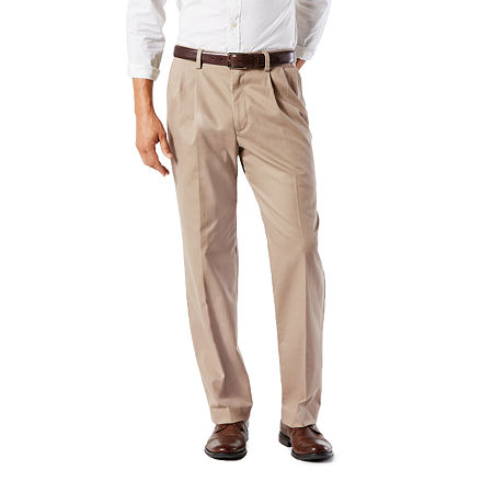 Dockers Big & Tall Classic Fit Easy Khaki Pants - Pleated D3, 46 30, Brown