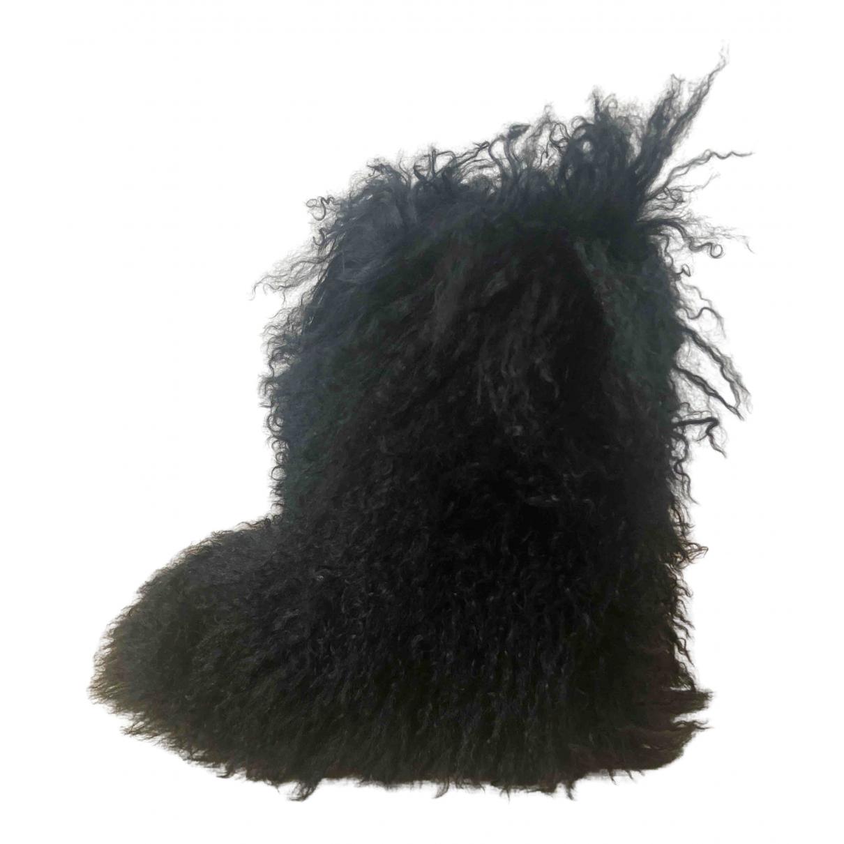 Dsquared2 \N Black Shearling Boots for Women 37 EU