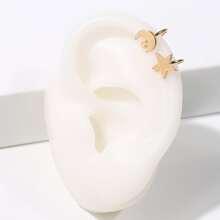 Star & Moon Ear Cuff