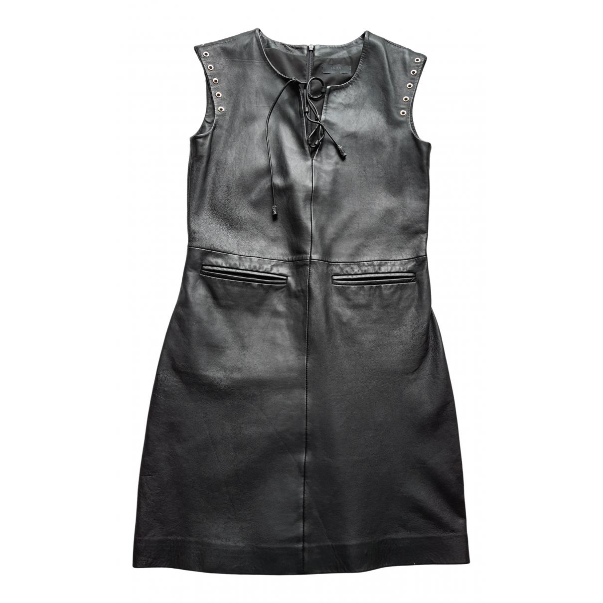Ikks \N Kleid in  Schwarz Leder