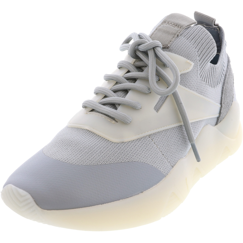 Steve Madden Women's Skippy Grey / Blue Ankle-High Fabric Sneaker - 9M