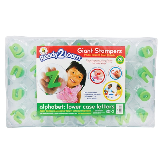 Ready2Learn™ Lowercase Alphabet Letters Giant Stampers, 28Ct. By Center Enterprises | Michaels®