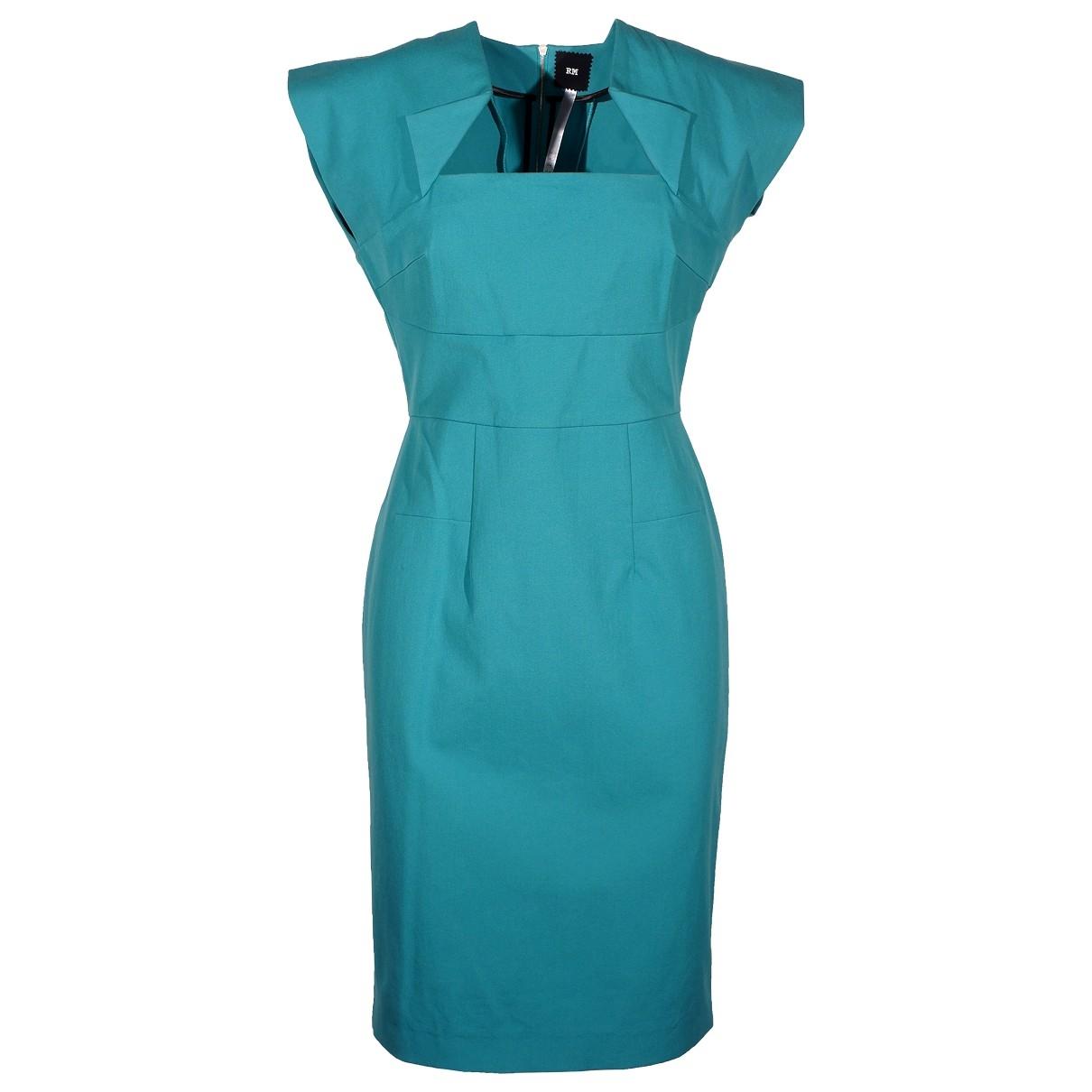 Roland Mouret \N Turquoise Cotton dress for Women 10 US