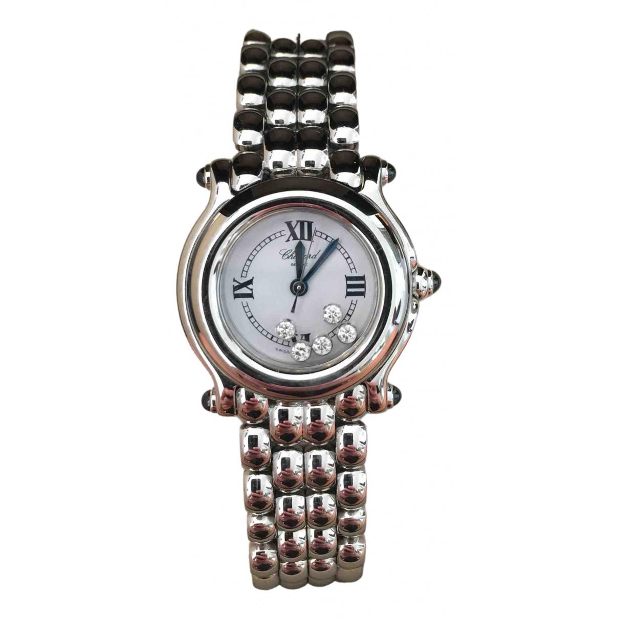 Chopard - Montre Happy Diamonds pour femme en acier - gris