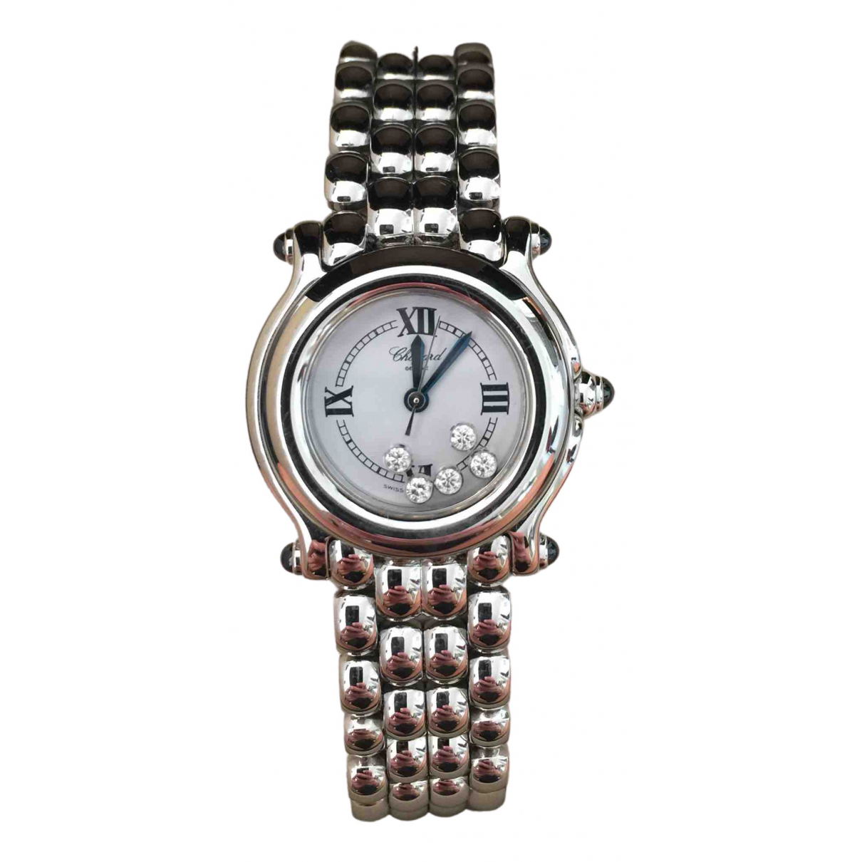 Chopard Happy Diamonds Uhr in  Grau Stahl