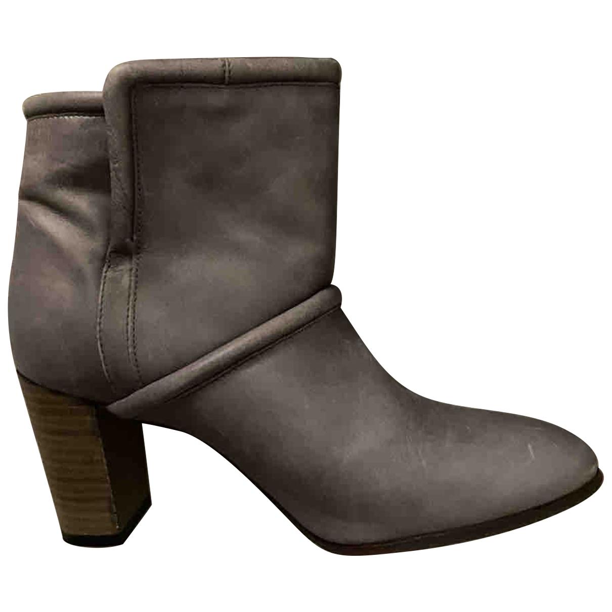Comptoir Des Cotonniers \N Stiefel in  Grau Leder