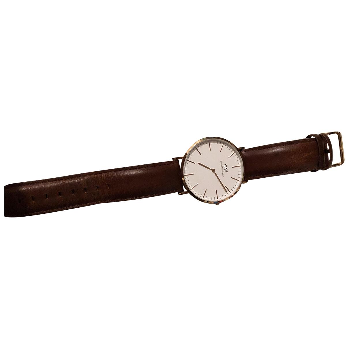 Daniel Wellington \N Gold Steel watch for Men \N