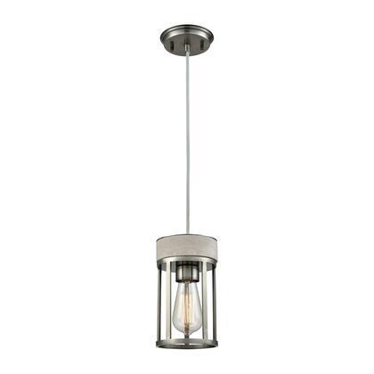 45336/1 Urban Form 1 Light Pendant in Black Nickel with Concrete