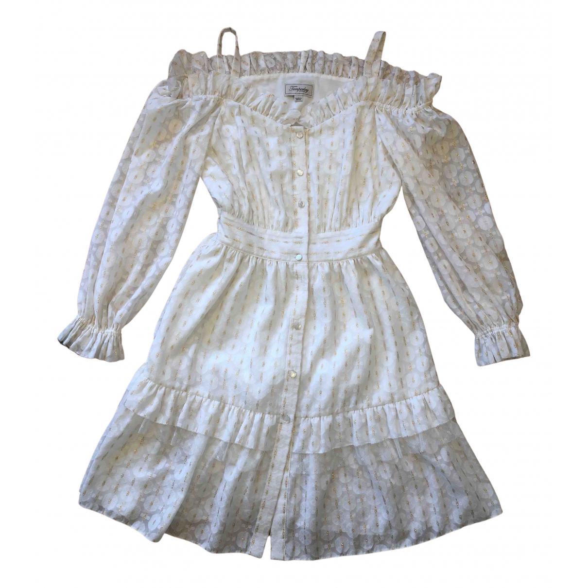 Temperley London \N Kleid in  Weiss Baumwolle