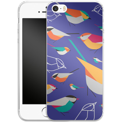 Apple iPhone 5 Silikon Handyhuelle - Birds Talk von Susana Paz