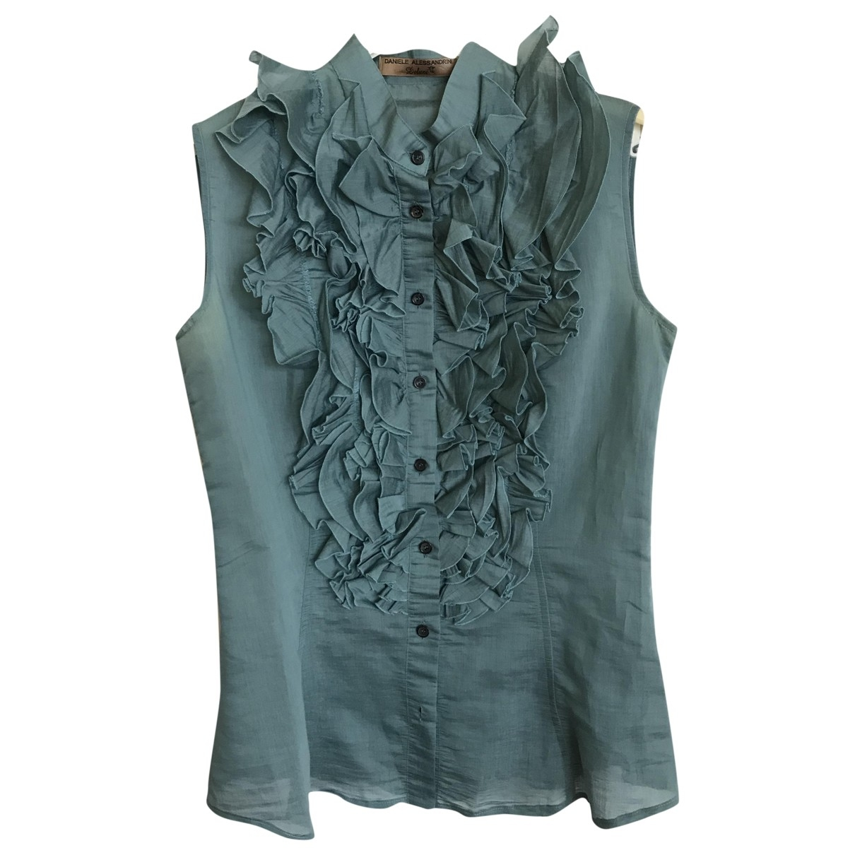 Alessandrini \N Turquoise Cotton  top for Women 46 IT