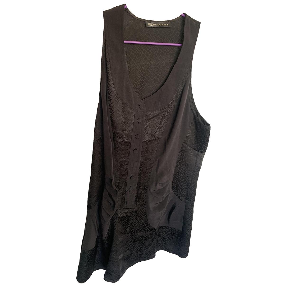 Balenciaga \N Black Silk  top for Women 38 FR