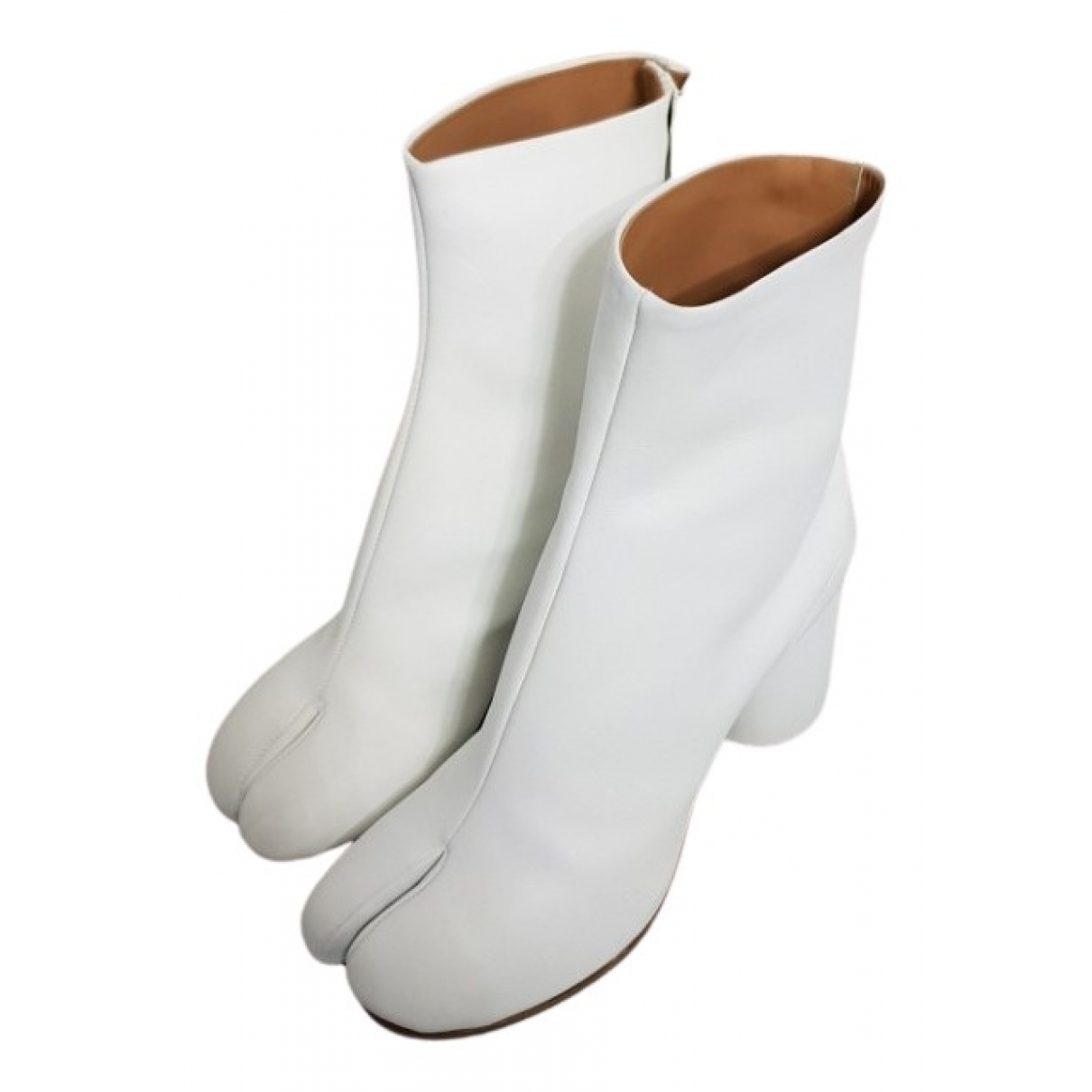 Maison Martin Margiela - Boots Tabi pour femme en cuir - blanc