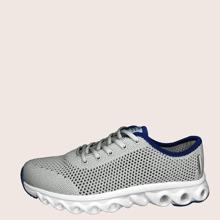 Maenner Sneakers mit Band vorn und Netzstoff