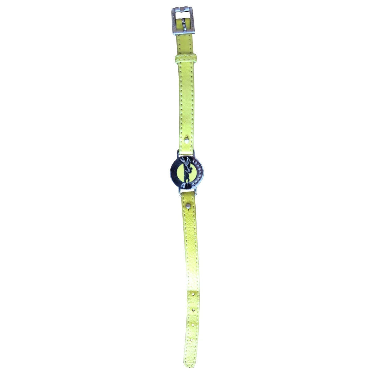 Longchamp - Bracelet   pour femme en cuir - jaune