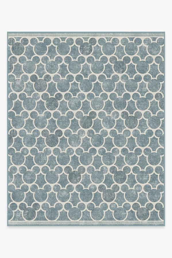 Washable Rug Cover & Pad   Mickey Trellis Slate Rug   Stain-Resistant   Ruggable   8x10