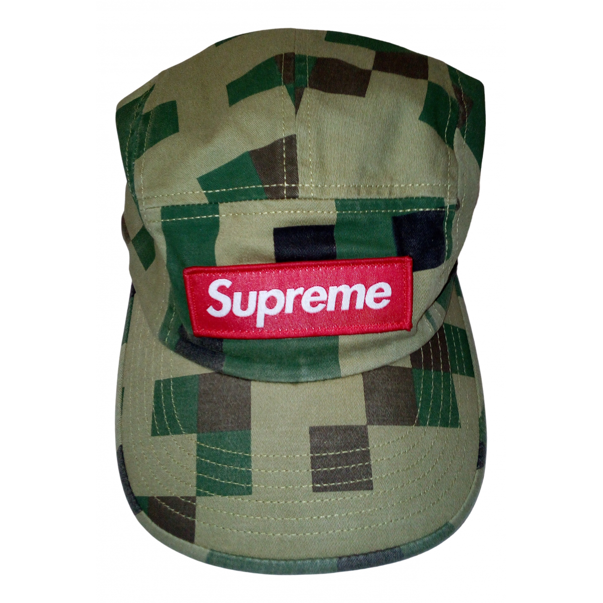 Supreme \N Hut, Muetzen in  Khaki Baumwolle