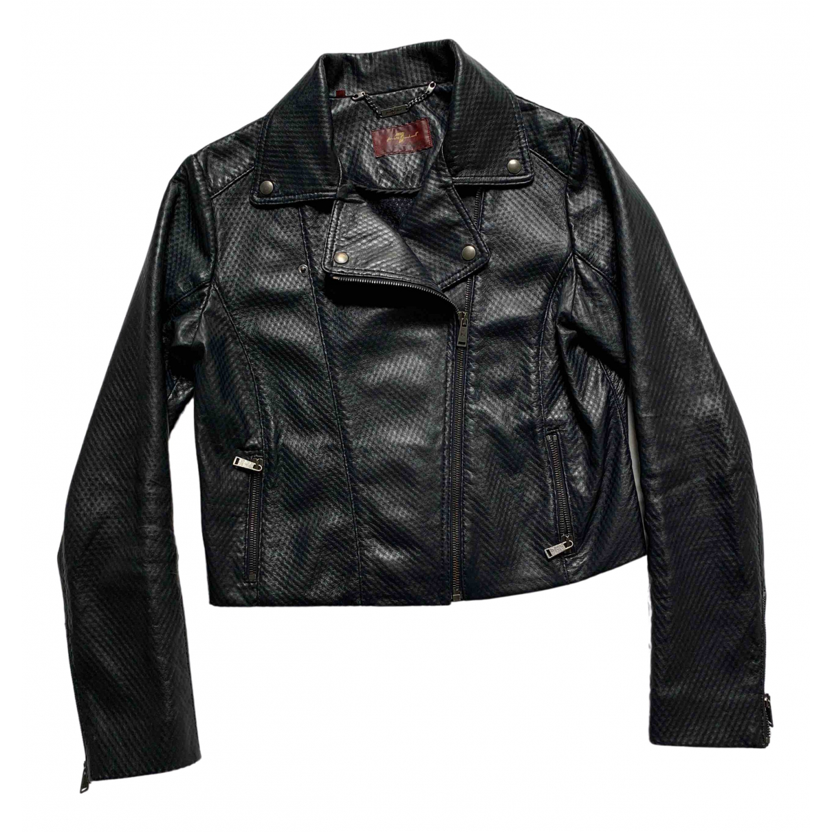 7 For All Mankind \N Navy Leather jacket for Women S International