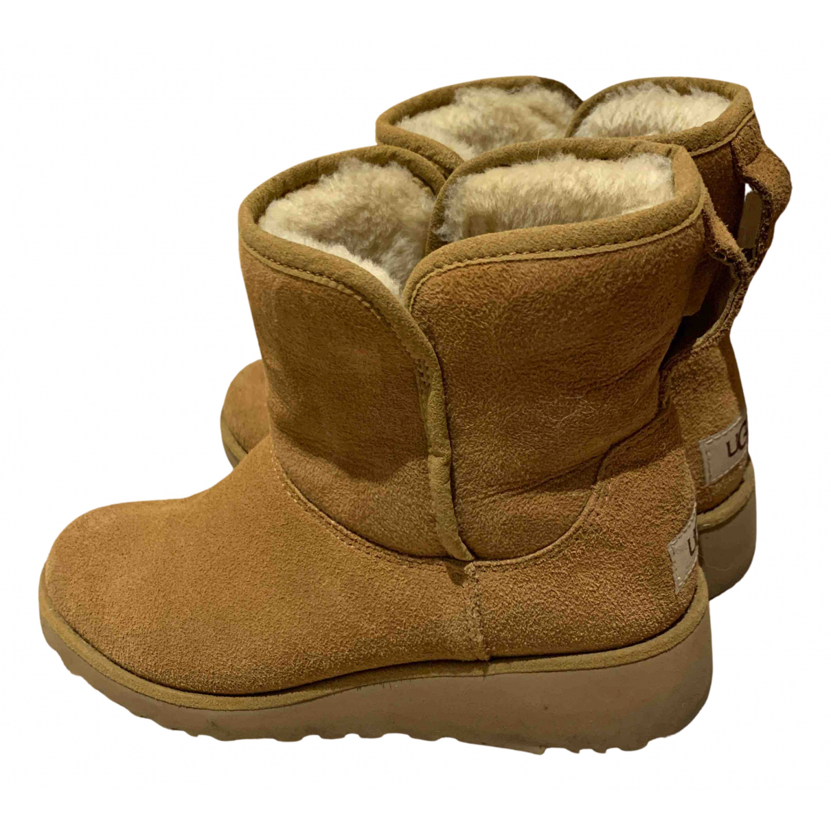 Ugg \N Camel Suede Boots for Women 4.5 UK