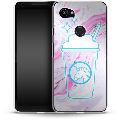 Google Pixel 2 XL Silikon Handyhuelle - Unicorn Frappuccino von caseable Designs