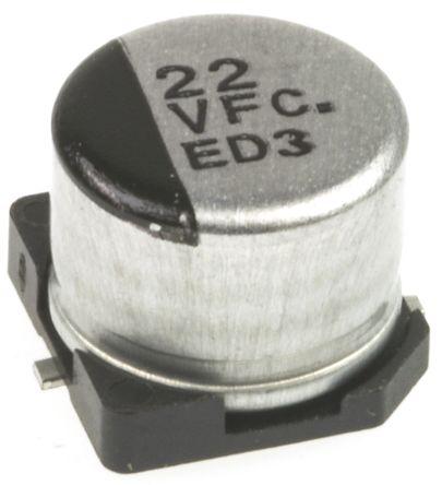 Panasonic 22μF Electrolytic Capacitor 35V dc, Surface Mount - EEEFC1V220AP (25)