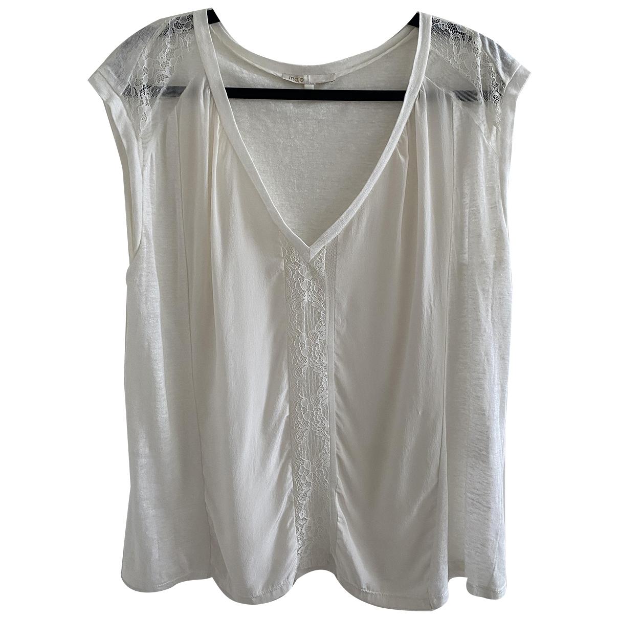 Maje - Top   pour femme en soie - blanc