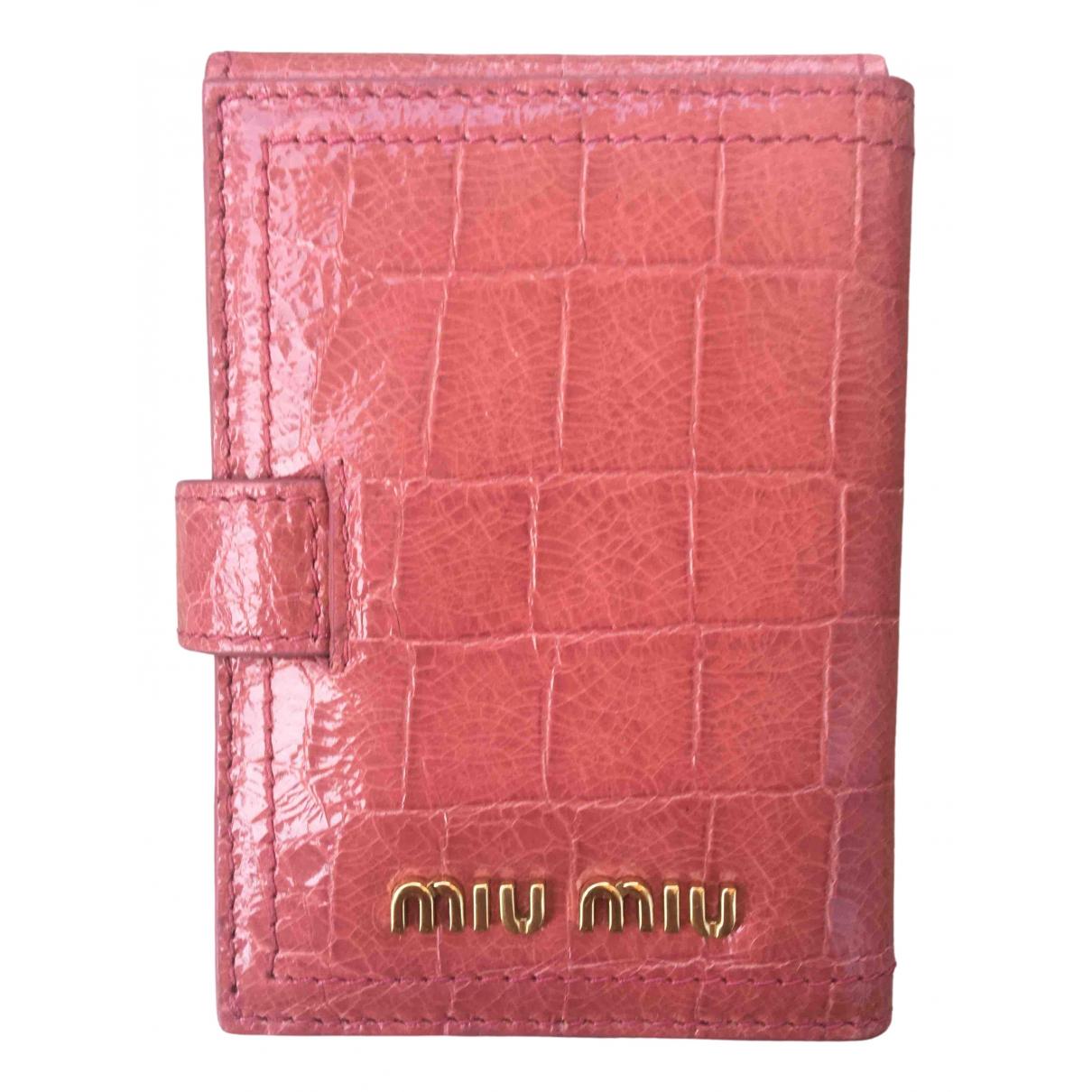 Miu Miu \N Portemonnaie in  Rosa Leder