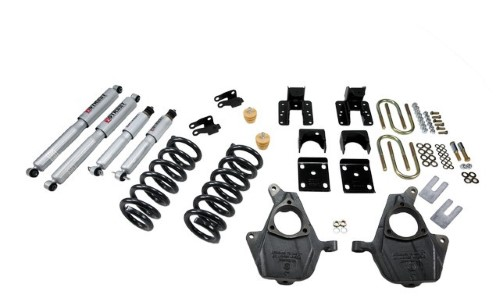 Belltech 674SP 3inch Front 4-5inch Rear Lowering Kit w/ SP Shocks Chevrolet Silverado | GMC Sierra Crew Cab 4-Door 2004-2006